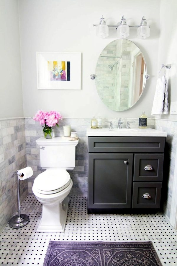 Small Bathroom Tile Bright Tiles Make Your